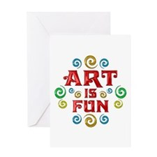 Art is Fun Greeting Card