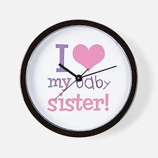 I Love My Baby Sister Wall Clock