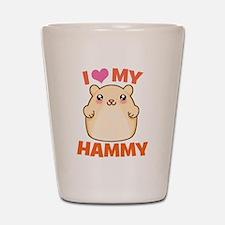 I Love My Hammy Shot Glass