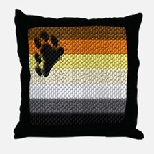 BEAR PRIDE COLORS_DIMPLED LOOK_ Throw Pillow