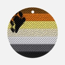 BEAR PRIDE COLORS_DIMPLED LOOK_ Ornament (Round)