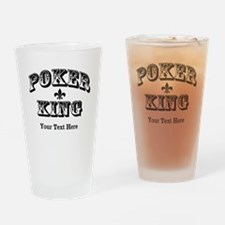 Customizable Poker King Pint Glass