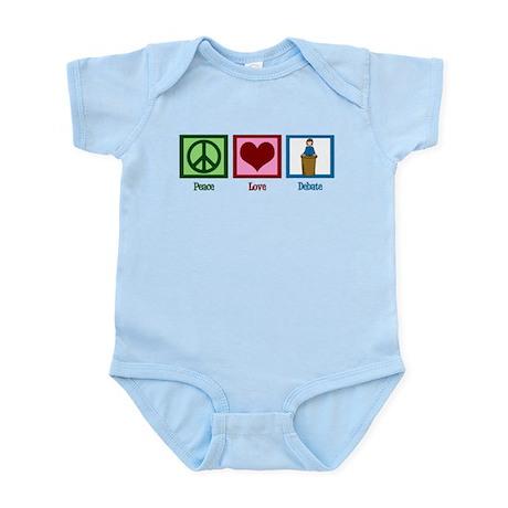 Peace Love Debate Infant Bodysuit