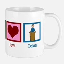 Peace Love Debate Mug