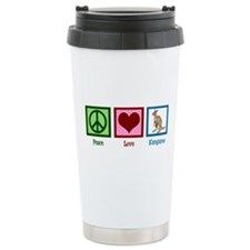 Peace Love Kangaroo Stainless Steel Travel Mug