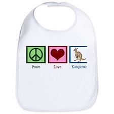Peace Love Kangaroo Bib