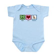 Peace Love Kangaroo Infant Bodysuit