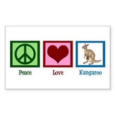 Peace Love Kangaroo Decal