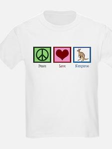 Peace Love Kangaroo T-Shirt