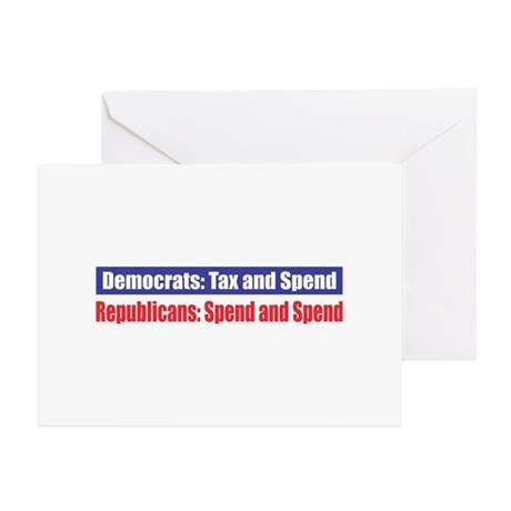 Spend and Spend Greeting Cards (Pk of 10)