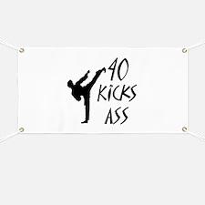 Cool Karate birthday Banner