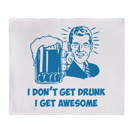I Get Awesome Throw Blanket