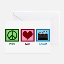 Peace Love Action! Greeting Card