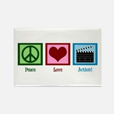 Peace Love Action! Rectangle Magnet