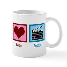 Peace Love Action! Mug