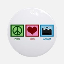 Peace Love Action! Ornament (Round)