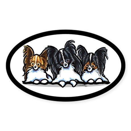 Papillon Lover Sticker (Oval)
