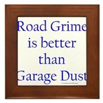 Road Grime Framed Tile