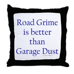 Road Grime Throw Pillow