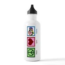 Peace Love Casinos Sports Water Bottle