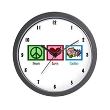 Peace Love Casinos Wall Clock