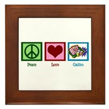 Peace Love Casinos Framed Tile