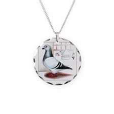 Giant Homer Pigeon Necklace Circle Charm