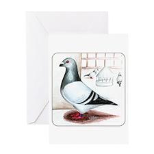 Giant Homer Pigeon Greeting Card