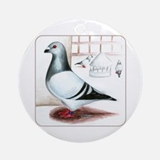Giant Homer Pigeon Ornament (Round)
