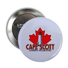 "Cape Scott Lighthouse 2.25"" Button"