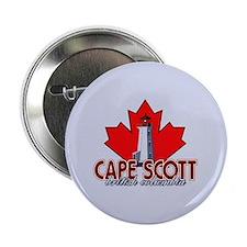 "Cape Scott Lighthouse 2.25"" Button"