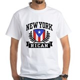 Puerto rican Mens Classic White T-Shirts