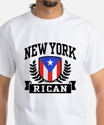 New York Rican White T-Shirt