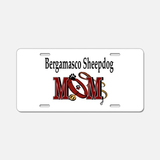 Bergamasco Dog Mom Aluminum License Plate