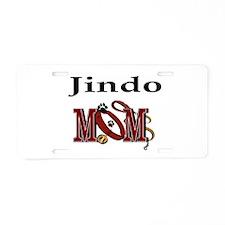 Jindo Dog Mom Aluminum License Plate