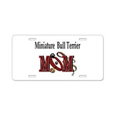 Miniature Bull Terrier Aluminum License Plate
