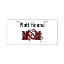 Plott Hound Mom Aluminum License Plate