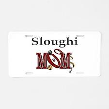 Sloughi Dog Mom Aluminum License Plate