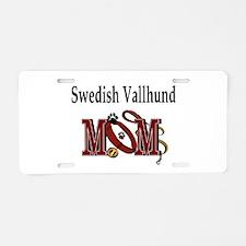 Swedish Vallhund Mom Aluminum License Plate