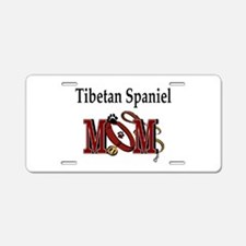 Tibetan Spaniel Mom Aluminum License Plate