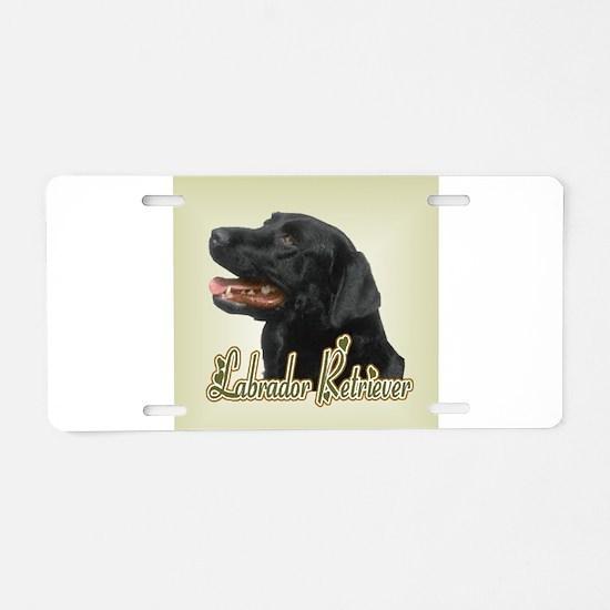 Black Labrador Retriever Aluminum License Plate