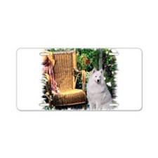 Samoyed Art Aluminum License Plate