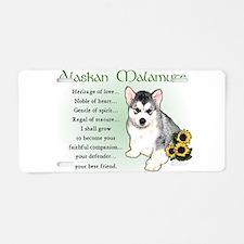 Alaskan Malamute Puppy Aluminum License Plate