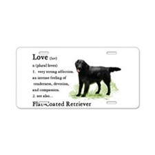 Flat-Coated Retriever Aluminum License Plate