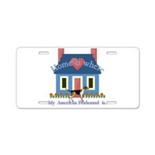 Home Is American Foxhound Aluminum License Plate