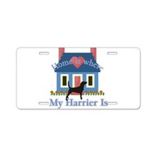 Harrier Home Is Aluminum License Plate