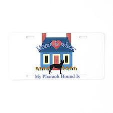 Pharaoh Hound Home Aluminum License Plate