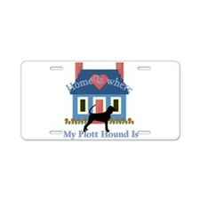 Plott Hound Home Is Aluminum License Plate