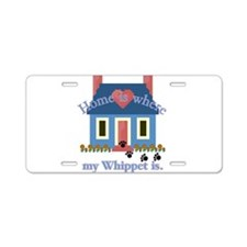 Whippet Lover Gifts Aluminum License Plate