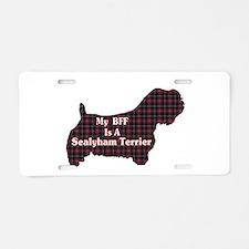 BFF Sealyham Terrier Aluminum License Plate
